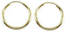 333 Echt Gold Creolen Rohrcreolen Kreolen Ohrringe Damen Herren 20 mm Gelbgold