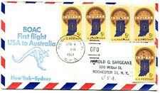 New ListingBoac First Flight New York - Sydney Australia - Boeing 707 - 1967