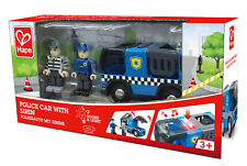 HAPE E3738 Police Car with Siren  Childrens Toy Wooden Railway Age 3 Years +