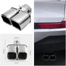 """Tip Inlet 2.5"""" 63MM 1 to 2 Dual Car Exhaust Pipe Chrome Universal Muffler Tip"""