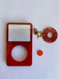 Red Face Plate Clickwheel Button For Apple iPod Classic 5th Gen Replacement