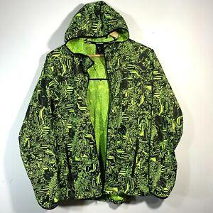 Nike Shield Mens Printed Hooded Lightweight Running Jacket Neon Digital S 800494
