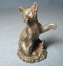 1981 Jane Lunger Pewter The Bear Cub Miniature Figurine Vintage Franklin Mint