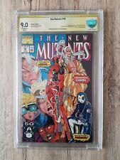 New Mutants #98 1app Deadpool (signed by Stan lee9.0 CBCs certifica!)