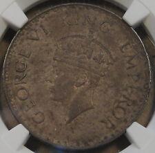 British India 1938(B) Dot Rupee NGC AU58 Richly Toned Original Coin