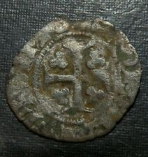 Medieval Silver Coin Lot 1300's Ad Crusader Templar Cross Clovers + Lys Ancient