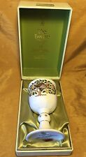 1980 Royal Doulton 12 Days of Christmas Partridge in Pear Tree Goblet +Lined Box