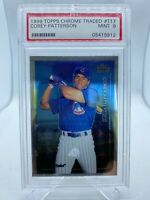 1999 Topps Chrome Traded #T17 Corey Patterson Cubs MINT PSA 9 RC Rookie Card