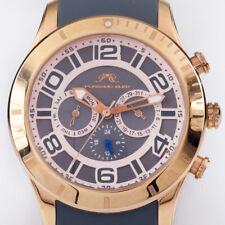 Porsamo Bleu Etienne Quartz Chronograph Watch w/ Gray Silicone Band