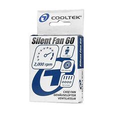 COOLTEK Silent Fan 60x60x25mm geräuscharmer Gehäuselüfter besonders laufruhig