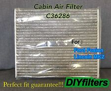 C36286 PREMIUM CARBON CABIN AIR FILTER for 2013-2017 FORD FUSION & LINCOLN MKZ