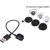 3 S/M/L Earbuds Tips Foam + USB Charger Bundle For Plantronics Voyager Legend QA