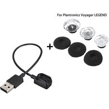 3 S/M/L Earbuds Tips Foam + USB Charger Bundle For Plantronics Voyager LEGEND