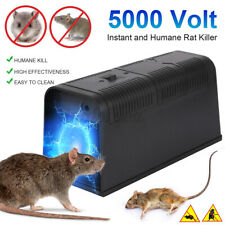 Electronic Mouse Trap Mice Killer Rat Pest Control Electric Zapper Rodent UK ~
