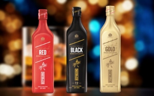 Johnnie Walker 200th Anniversary Limited Edition Pack (Red/Black/Gold Label)