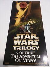 Rare Star Wars Trilogy Advertising Paperboard
