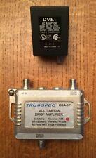 Tru Spec Cda-1P Multi-Media Drop Amplifier w Power Adapter
