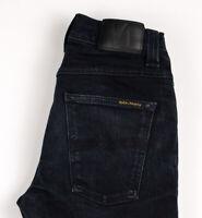 Nudie Jean Hommes Sinistre Tim Slim Jeans Extensible Taille W31 L34 ATZ83