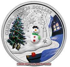 CANADA 2015 $20 1 OZ  FINE SILVER COIN - VENITIAN (MURANO) GLASS SNOWMAN - MRC