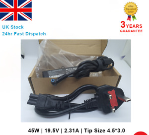 For HP Laptop AC Adapter Charger 740015-003 741727-001 19.5V 2.31A 45W UK