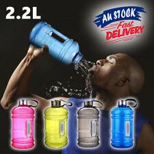 2.2L Large Water Bottle Cap Big Drink Kettle BPA Free Sport Training Workout Gym