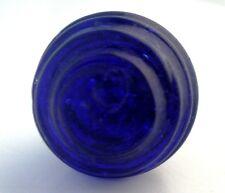GLORIOUS OLDER COBALT BLUE BEEHIVE GLASS SPUN VENETIAN KNOBS HANDLES PULLS