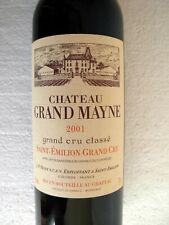 CHÂTEAU GRAND MAYNE 2001 - SAINT EMILION -  GRAND CRU CLASSE - vin Bordeaux