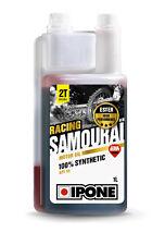 HUILE MOTEUR IPONE SAMOURAI MOTO 2T 100% SYNTHESE RACING- 1L - Senteur Fraise