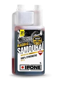 HUILE Moteur IPONE SAMOURAI 100% SYNTHESE RACING 1L - Senteur Fraise (Moto 2T)