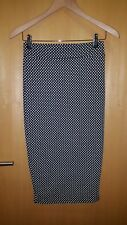 pencil skirt size 8 black and white