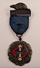 1905 Supreme Conclave Milwaukee Heptasophs Souvenir Fraternal Pin Pinback Badge
