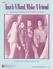 "The Staple Singers ""Touch A Hand, Make A Friend"" Sheet Music-Piano/V/Chords-1974"