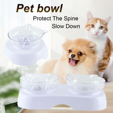 Transparent Cat Food Dish Pet Feeder Slow Eating Cat Ears Shaped Cats Bowl