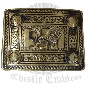 Celtic Welsh Dragon Belt Buckle Antique Finish/Highland Wear Kilt Belt Buckles