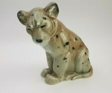 Karl Ens Volkstedt Figure Of A Lion Cub 17.5cm In Height Green Windmill Mark
