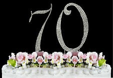 NEW Large Rhinestone  NUMBER (70) Cake Topper 70th Birthday Party Anniversary