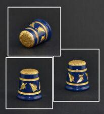 FELIX MOREL COBALT AND GOLD THIMBLE