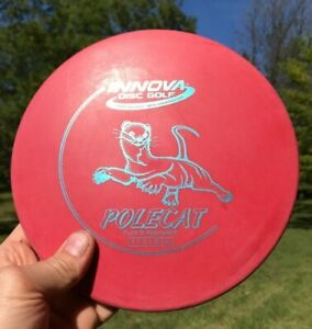 Used no ink DX Polecat 150 gram Red Innova disc golf putter light weight starter