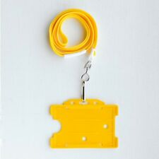 Yellow Vertical/Portrait Single Sided ID Card Holder & Yellow Neck Strap Lanyard
