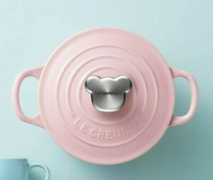 Le Creuset Cocotte Rond Pot Chiffon Pink 14cm Kitchenware Baby Bear Mickey Japan