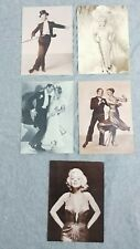 Vintage Postcards Fred Astaire Ginger Rogers Marilyn Monroe Mae West 1986
