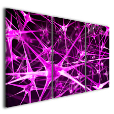 Quadri astratti tele moderne Digital Art quadri con colori viola e fuxia stampe