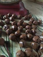 """(48) Primitive Rusty Tin JINGLE BELLS 13mm 1/2 in 1/2"""" Christmas Crafts"""
