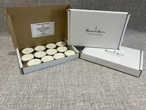 Unscented Soy Wax Tealights (12 Pack) Natural Handpoured