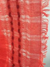 "NWT Eileen Fisher Striped Linen Cashmere Blend Scarf in Red Poppy 28"" x 80"""