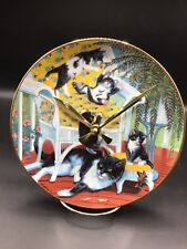 Mom Puts Up With Playful Kittens 8 1/2 Inch Clock !