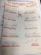 LA Dodgers Auto 1972 Pitching Staff