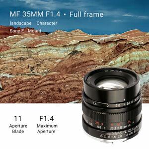 7artisans 35mm F1.4 Full Frame Manual Lens for Leica M Sony E Canon RF Nikon Z