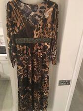 Vintage Fashion Blogger Must Have Animal Print Long Dress Size L