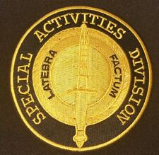 Cia Sad Special Activities Division Collectors Patch - Latebra Factum